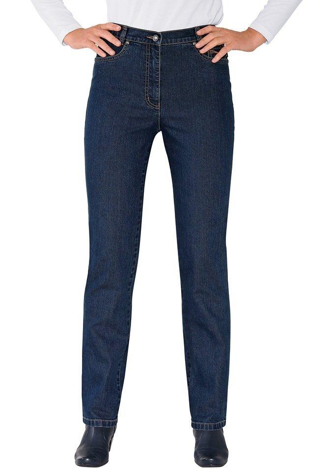 Leiss Jeans mit formgebendem Sattel in blue-stone-washed