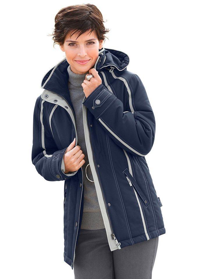 Damen Collection L. Sympatex-Jacke mit kontrastfarbigen Ziernähte und Paspelierungen blau | 06948977452481