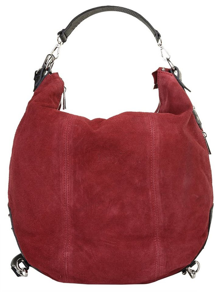 Forty degrees Leder Damen Rucksack-Shopper in rot