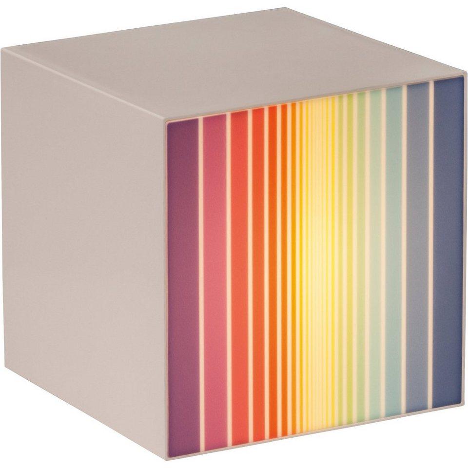 Tischlampe Rumi, Streifen, bunt in mehrfarbig