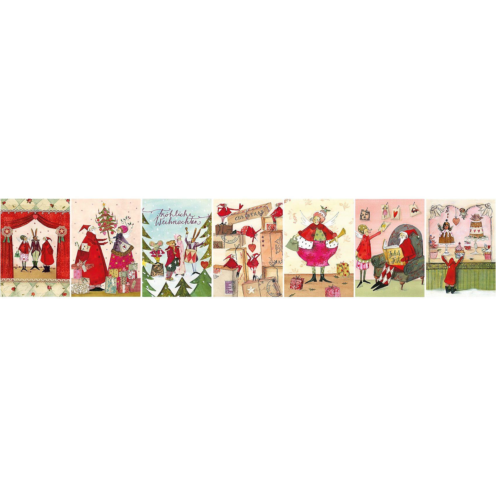 Grätz Verlag Weihnachtspostkarten-Set, 7 Stück