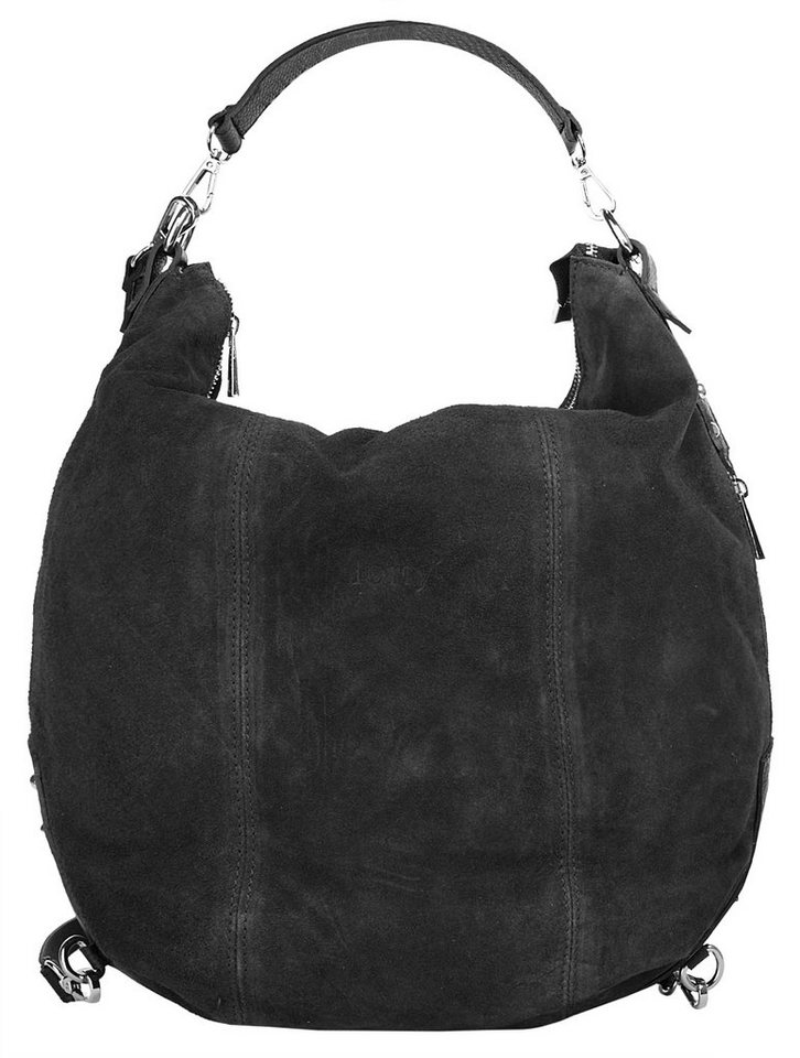 Forty degrees Leder Damen Rucksack-Shopper in schwarz