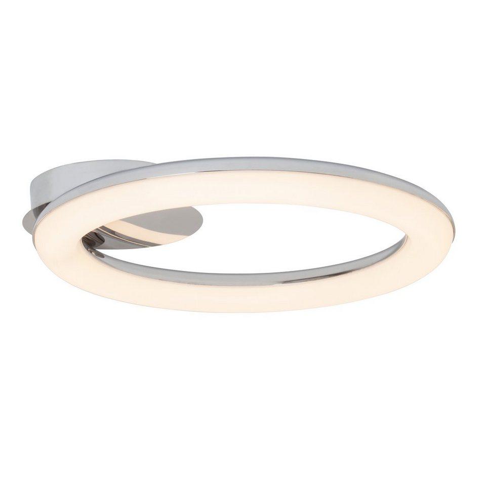 Brilliant Leuchten Deckenleuchte, inkl. LED-Leuchtmittel, 1 flammig in weiß, chromfarben