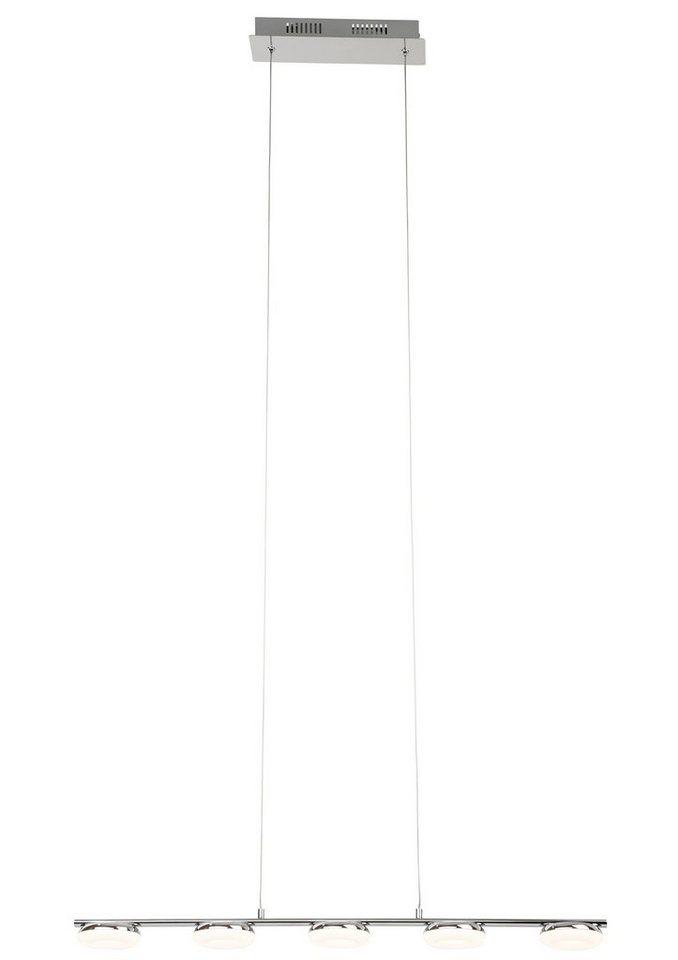 Brilliant Leuchten Pendelleuchte, inkl. LED-Leuchtmittel, 5 flammig in weiß, chromfarben