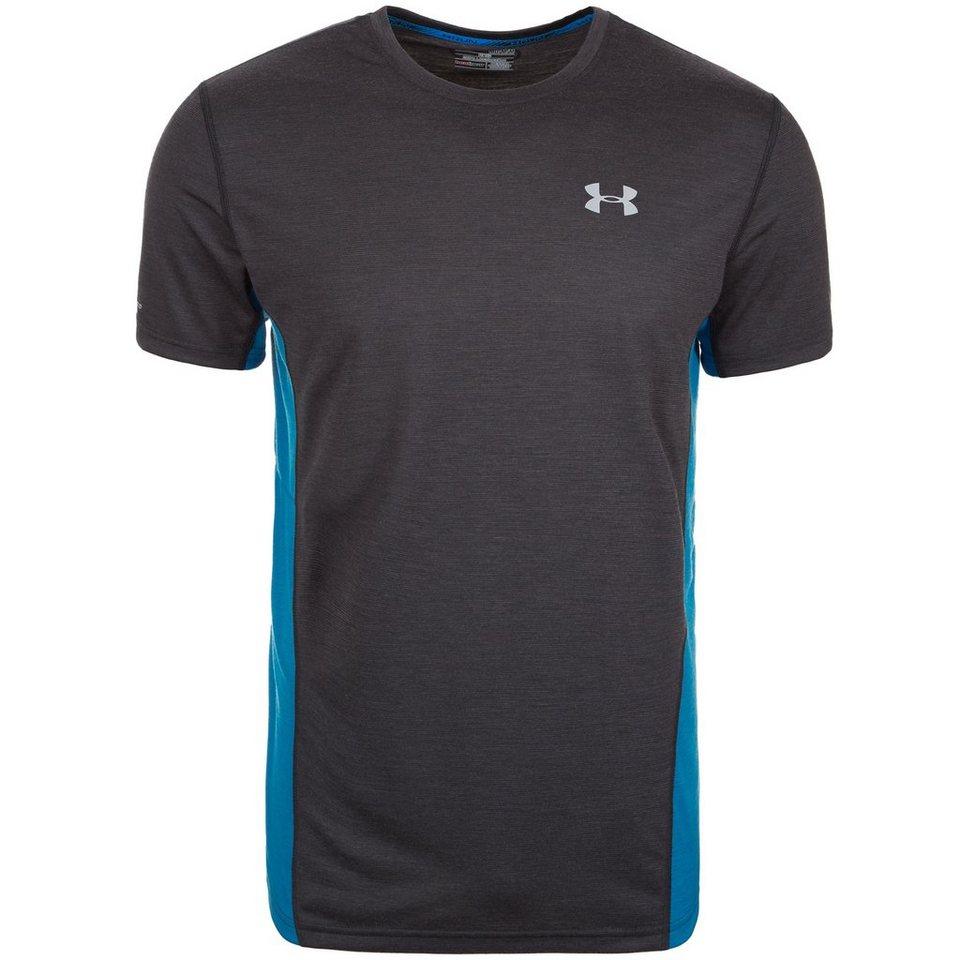 Under Armour® HeatGear Charged Wool Laufshirt Herren in schwarz / blau