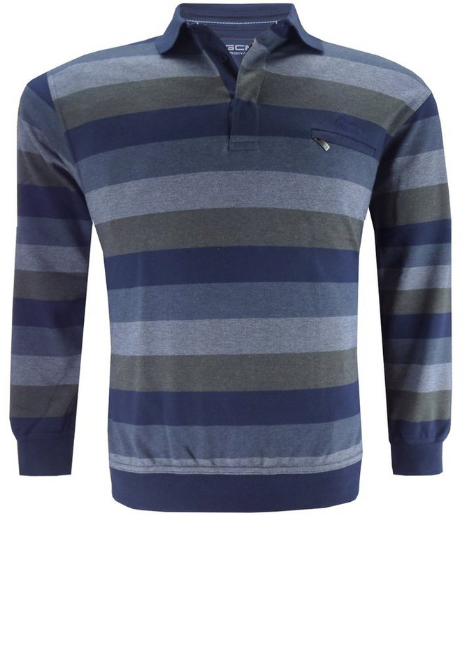 GCM Polosweater in Marineblau