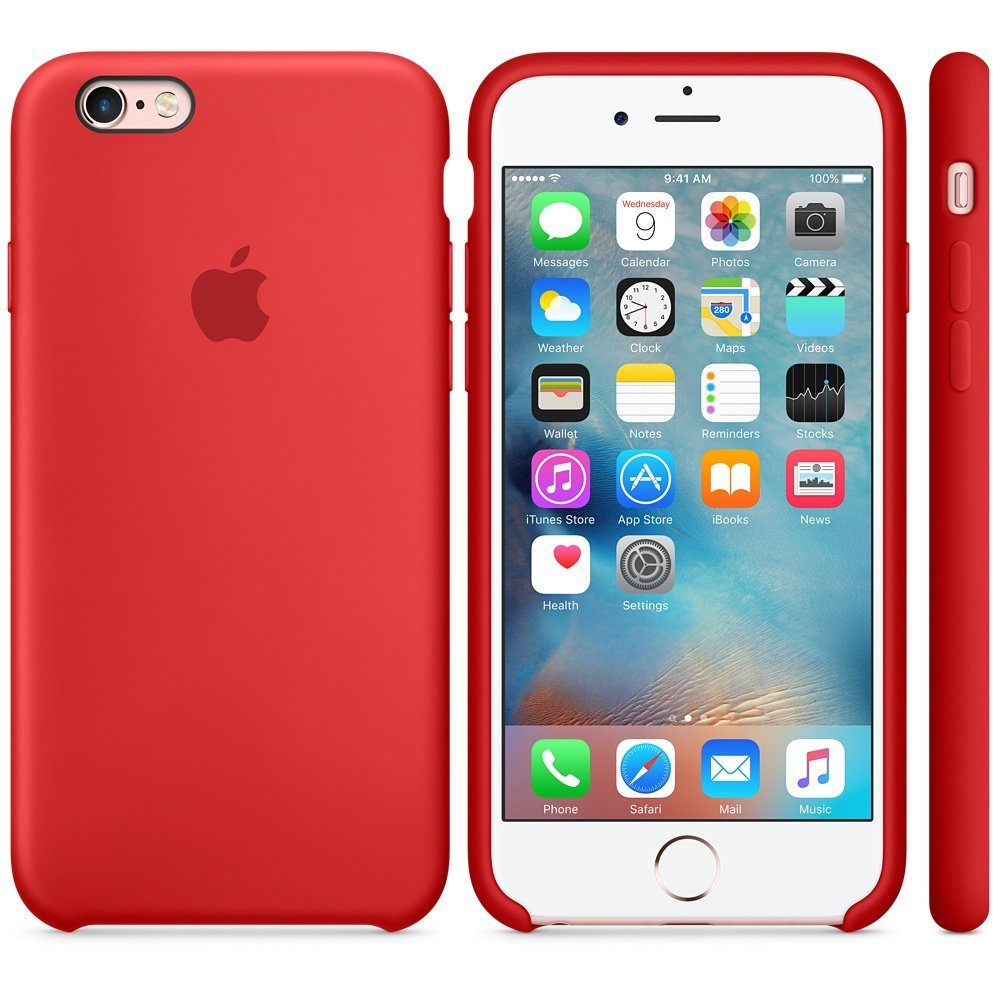 Apple Case »iPhone 6S Silikon Case Rot«