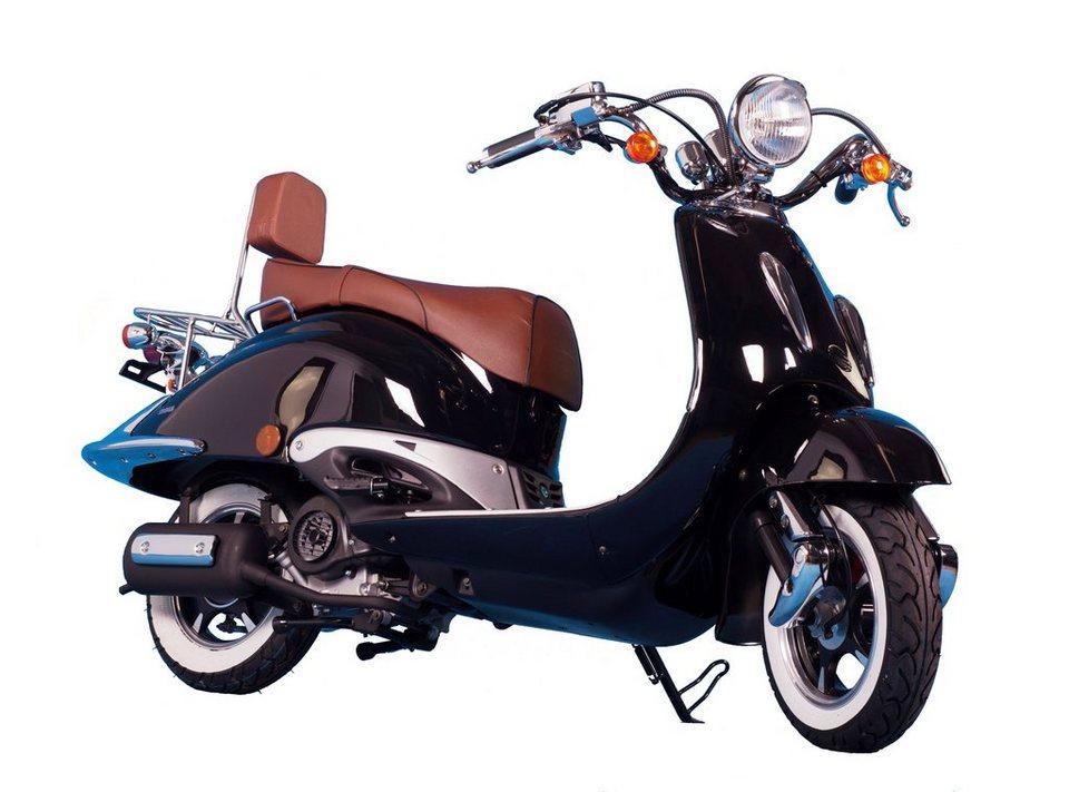 Motorroller »Strada«, 50 ccm, 45 km/h in schwarz