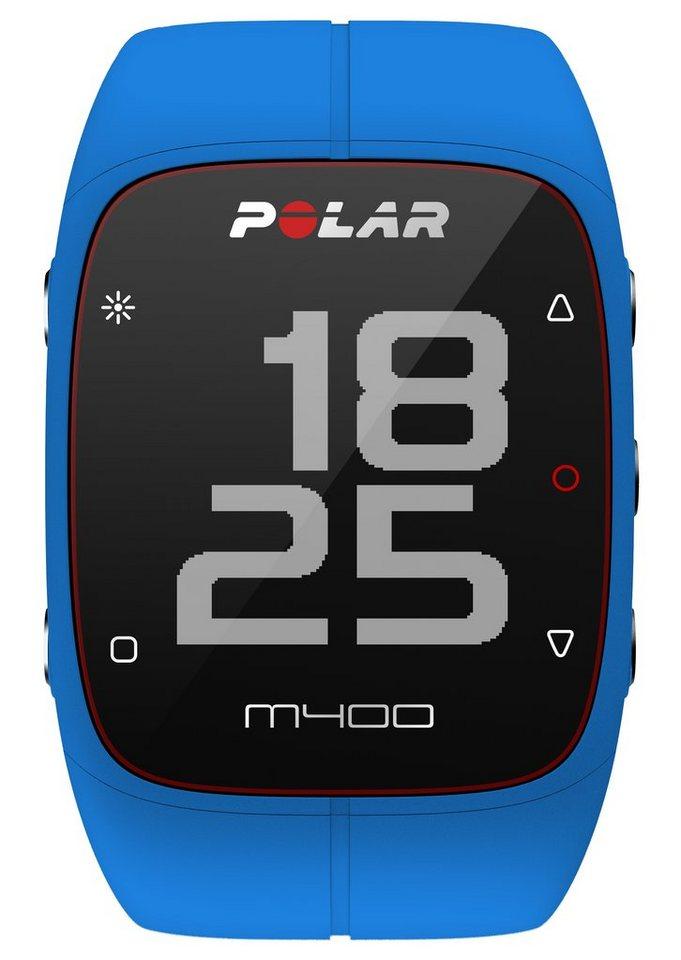 Polar GPS Sportuhr, »M400 Blue HR«, inkl. Brustgurt in blau