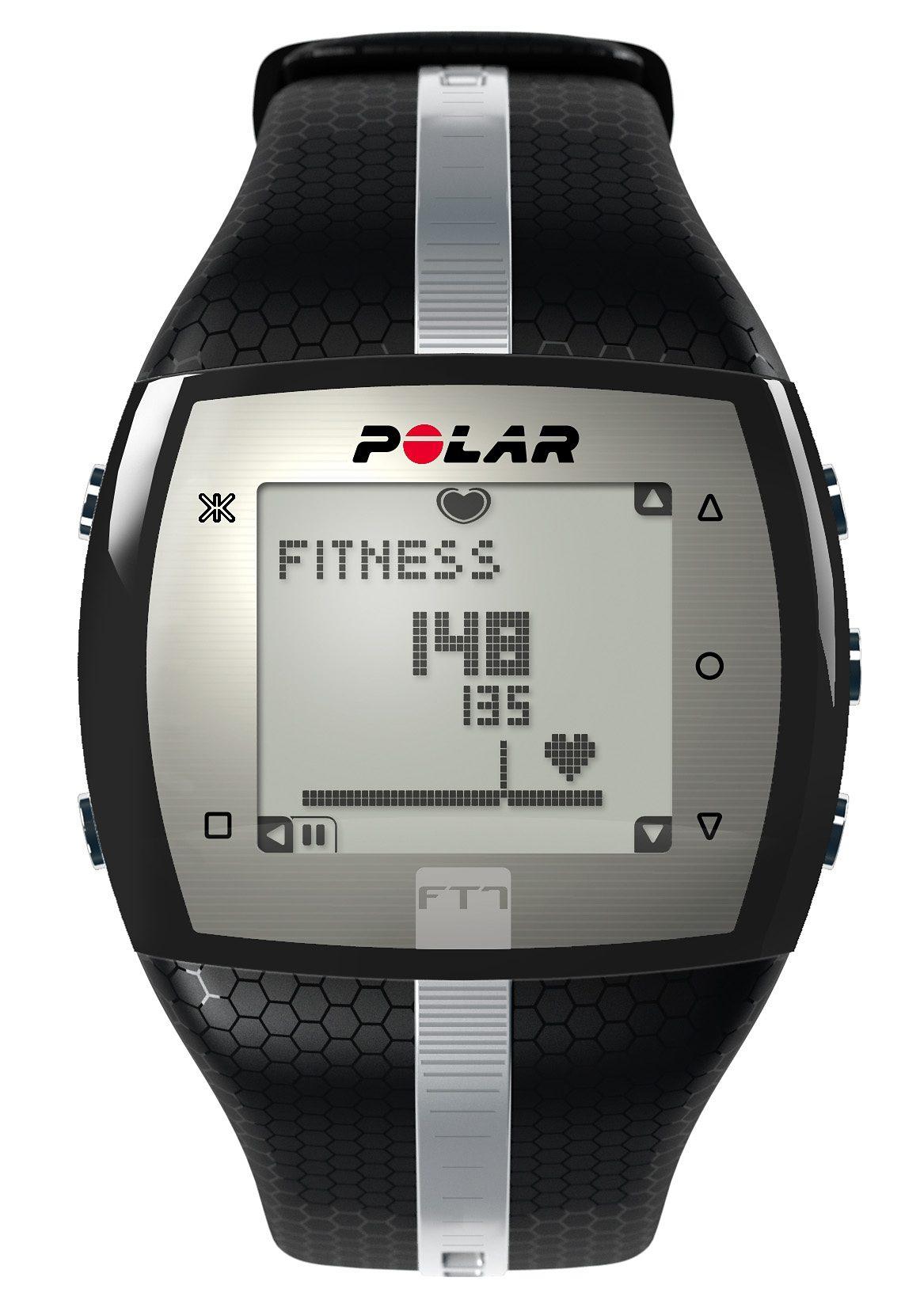 Polar Fitness Pulsuhr, »FT7 Black Silver«, inkl. Brustgurt