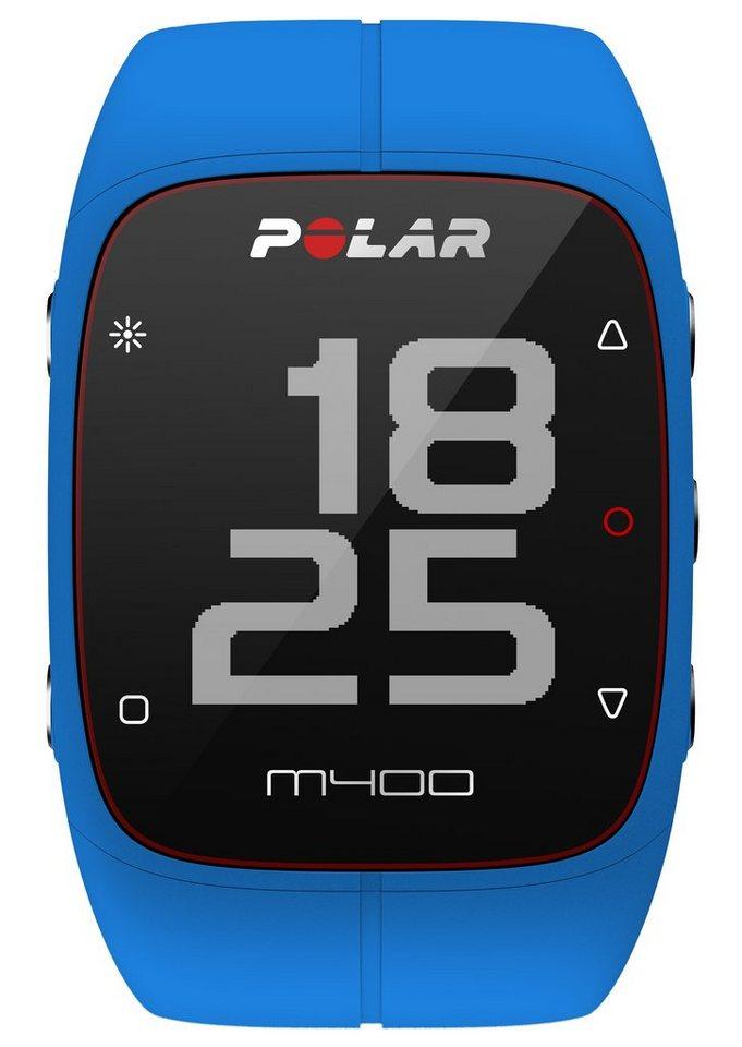Polar GPS Sportuhr, »M400 Blue« in blau