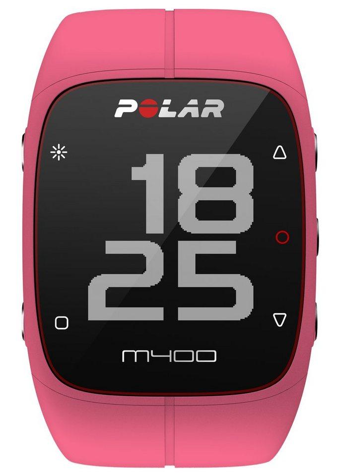 Polar GPS Sportuhr, »M400 Pink HR«, inkl. Brustgurt in pink
