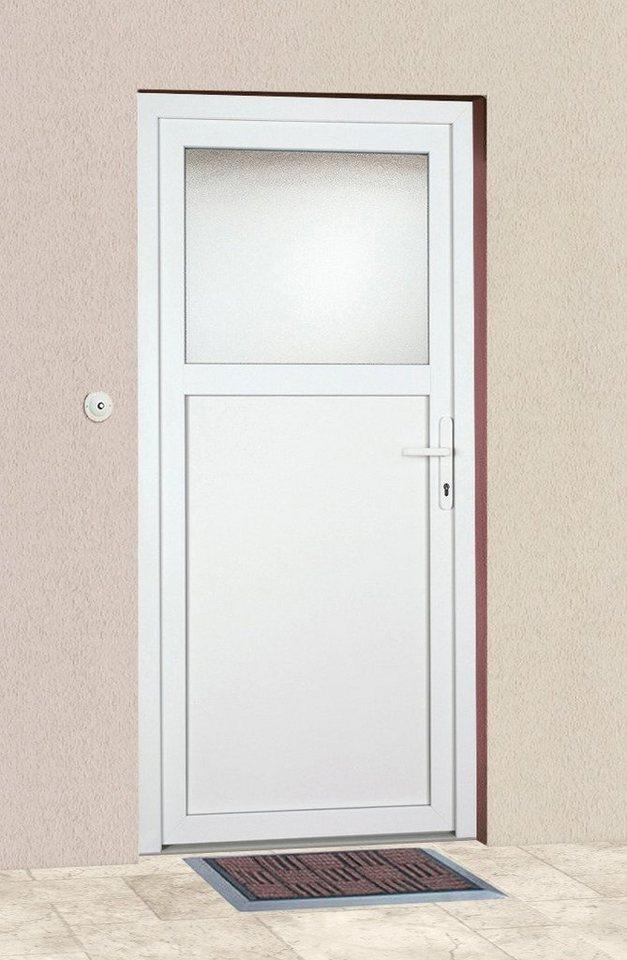 Mehrzweck-Haustür »K601P« Festmaß: BxH: 108 x 203 cm, weiß in weiß