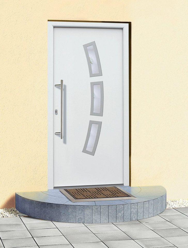 Aluminium-Haustür »A07« BxH: 98 x 198 cm, weiß in weiß