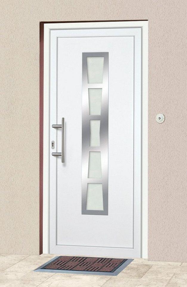 Kunststoff-Haustür »K640« BxH: 98 x 208 cm, weiß in weiß