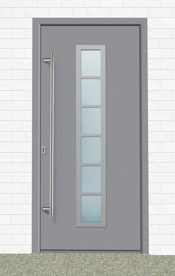 Aluminium-Haustür »A04« BxH: 98 x 198 cm, grau in grau