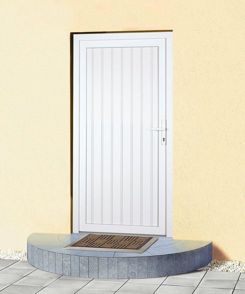 Mehrzweck-Haustür »K608P« Festmaß: BxH: 98 x 208 cm, weiß in weiß