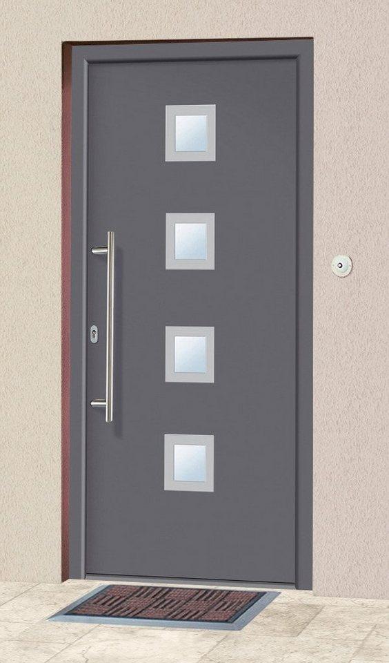 Aluminium-Haustür »A05« BxH: 98 x 198 cm, anthrazit in anthrazit