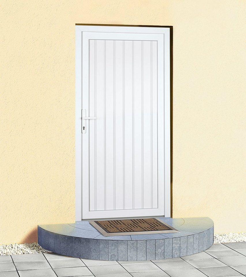 Mehrzweck-Haustür »K608P« Festmaß: BxH: 88 x 198 cm, weiß in weiß