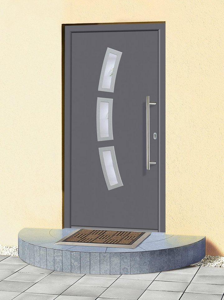 Aluminium-Haustür »A07« BxH: 98 x 198 cm, anthrazit in anthrazit