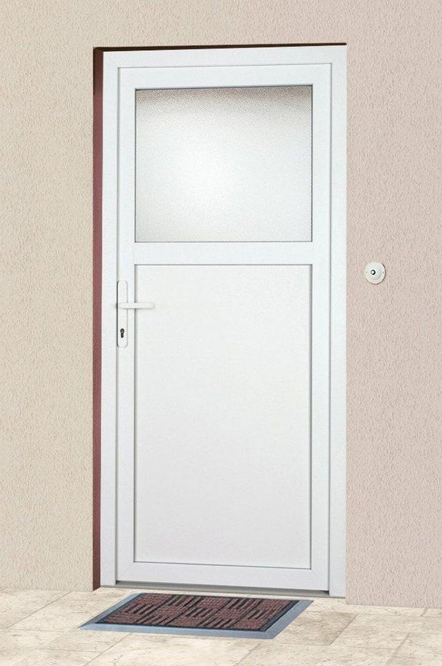 KM Meeth Zaun Gmbh Mehrzweck-Haustür »K601P« Festmaß: BxH: 98 x 208 cm, weiß in weiß