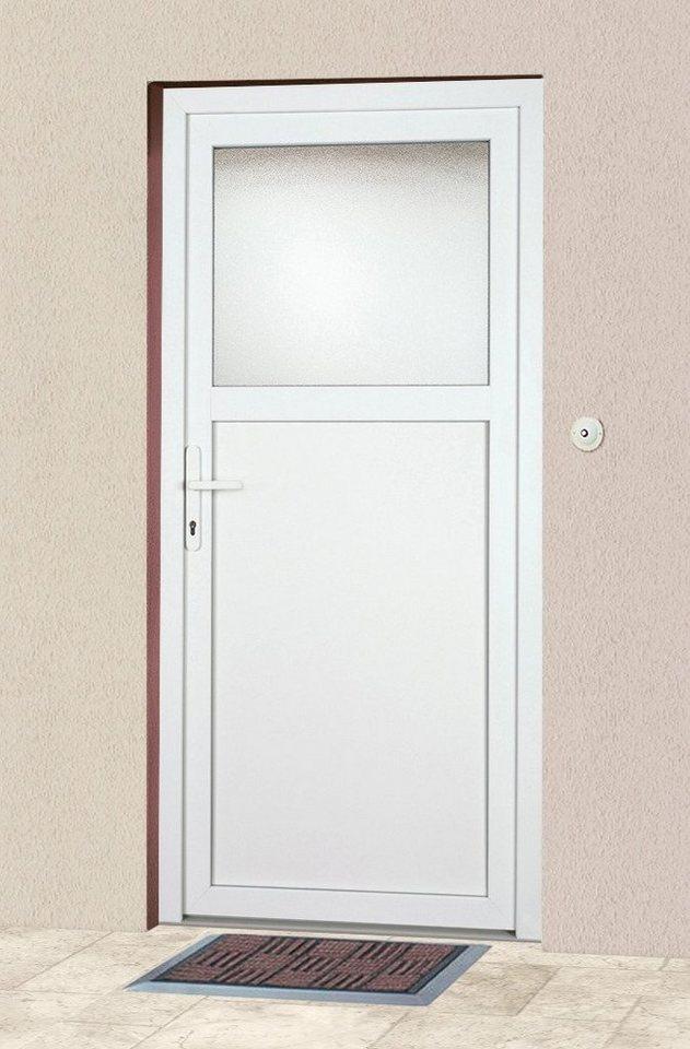 Mehrzweck-Haustür »K601P« Festmaß: BxH: 98 x 193 cm, weiß in weiß
