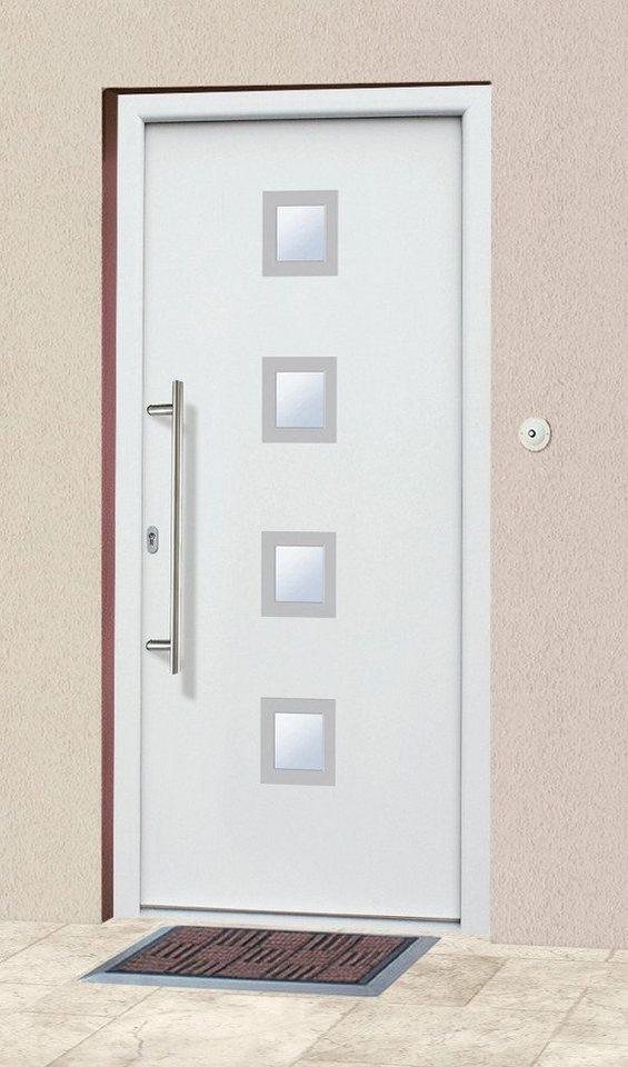 KM MEETH ZAUN GMBH Aluminium-Haustür »A05«, BxH: 98x198 cm, weiß, in 2 Varianten in weiß