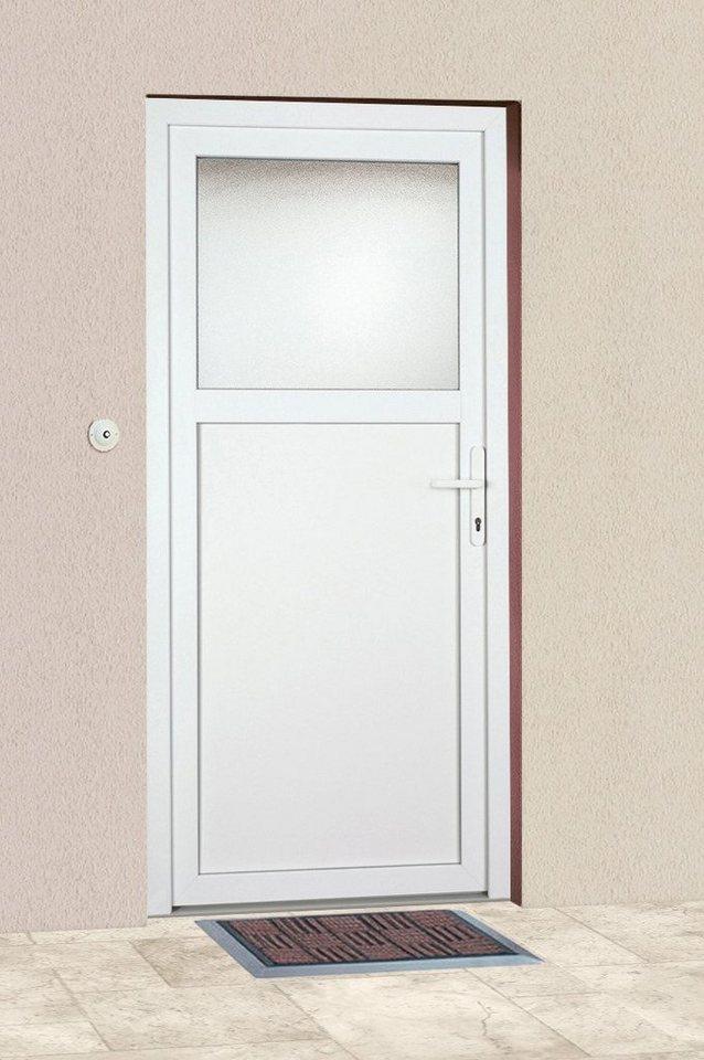 Mehrzweck-Haustür »K601P« Festmaß: BxH: 88 x 198 cm, weiß in weiß