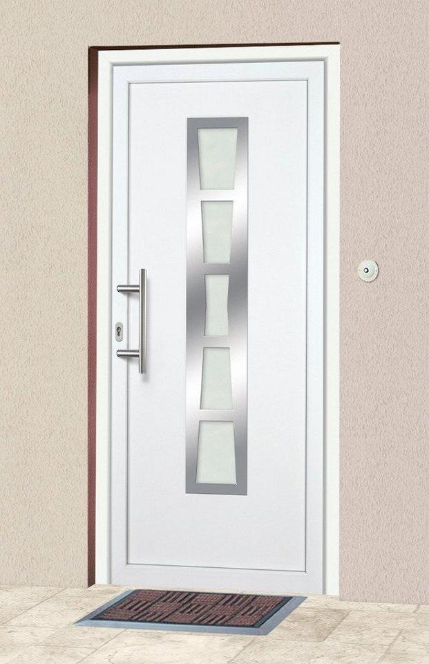Kunststoff-Haustür »K640« BxH: 108 x 208 cm,weiß in weiß