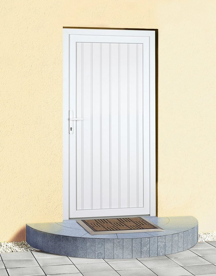 KM Meeth Zaun Gmbh Mehrzweck-Haustür »K608P« Festmaß: BxH: 98 x 198 cm, weiß in weiß