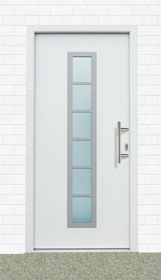 Aluminium-Haustür »A04« BxH: 98 x 198 cm, weiß in weiß