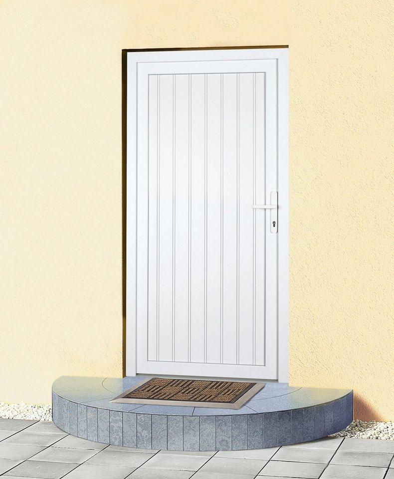 Mehrzweck-Haustür »K608P« Festmaß: BxH: 108 x 208 cm, weiß in weiß