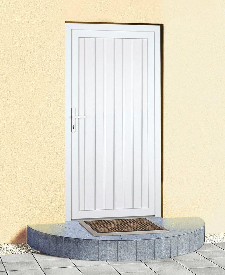 Mehrzweck-Haustür »K608P« Festmaß: BxH: 98 x 193 cm, weiß in weiß