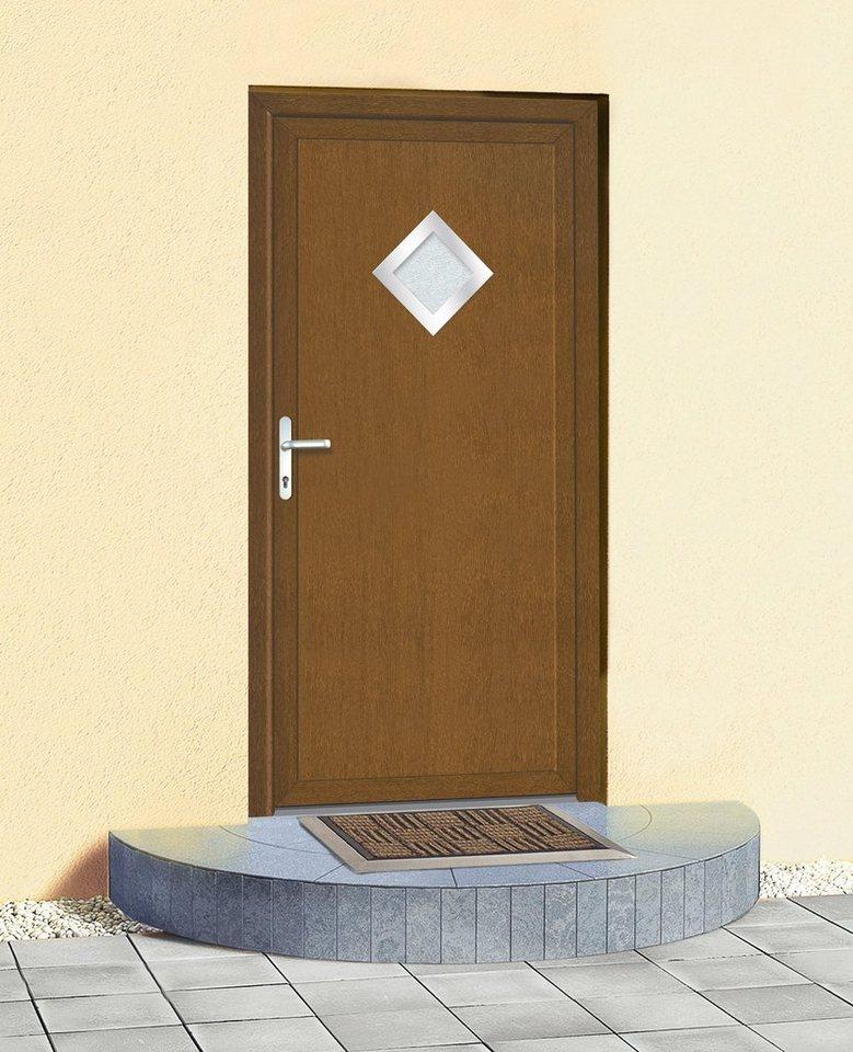 Mehrzweck-Haustür » KT32« Festmaß BxH: 108 x 208 cm, goldeichefarben in goldeichefarben
