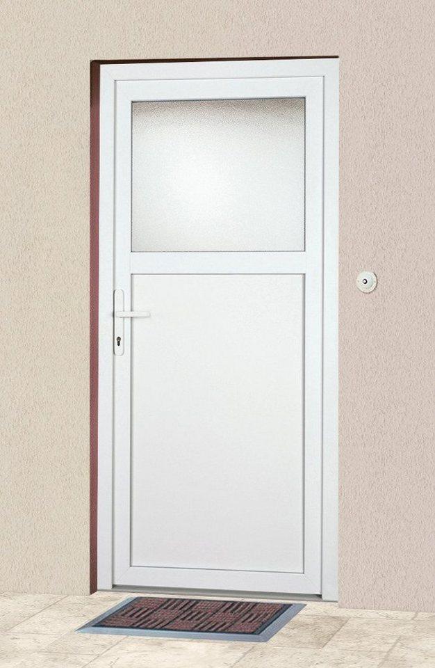 Mehrzweck-Haustür »K601P« Festmaß: BxH: 98 x 198 cm, weiß in weiß