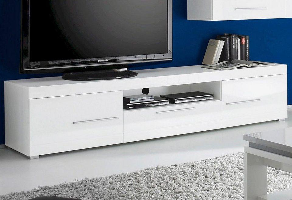 Lowboard, Breite 205 cm in weiß