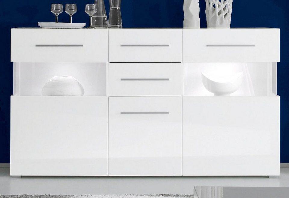 Sideboard, Breite 175 cm in weiß