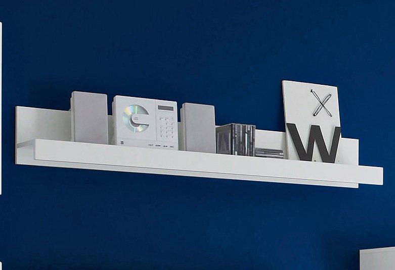 Wandbord, Breite 140 cm in weiß