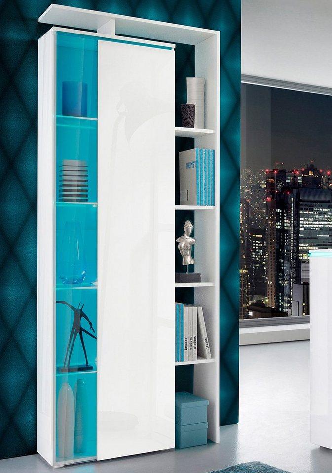 borchardt m bel standvitrine mit seitlichem regal h he 189 cm online kaufen otto. Black Bedroom Furniture Sets. Home Design Ideas