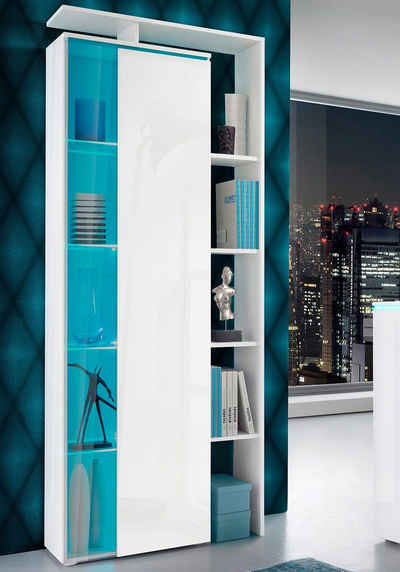 borchardt Möbel Standvitrine mit seitlichem Regal, Höhe 189 cm