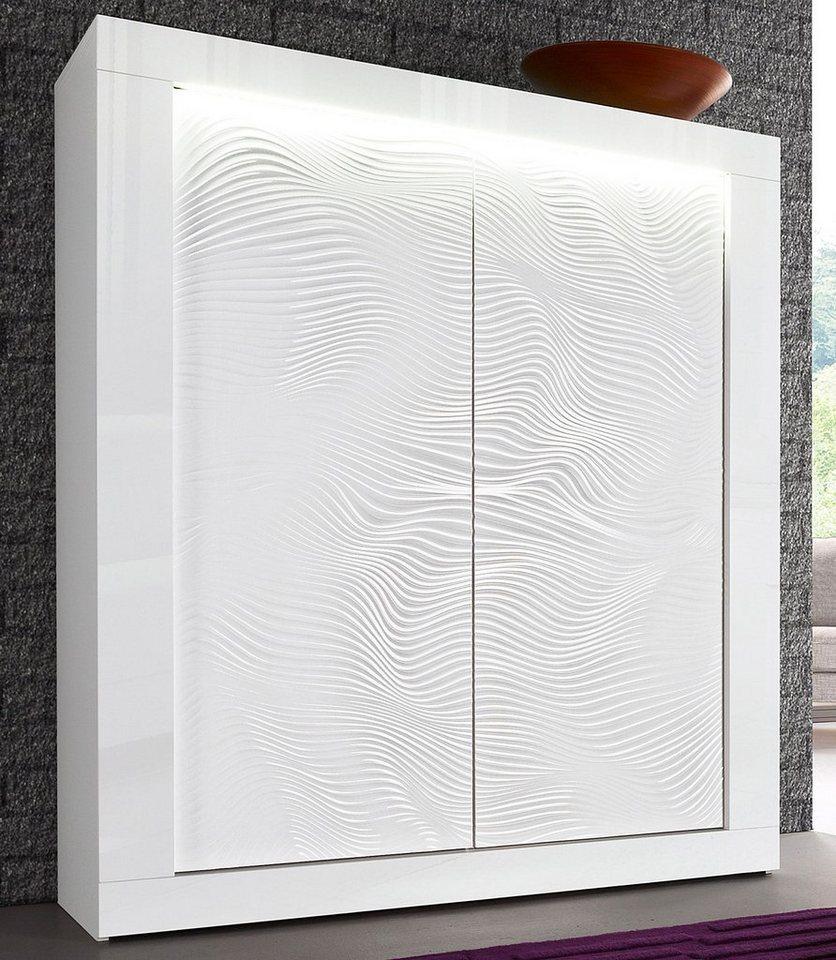 S.C.I.A.E. Highboard »Karma N°2«, Breite 121 cm in weiß