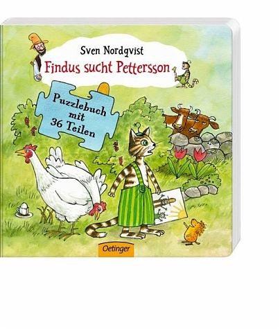 Buch mit Papp-Einband »Findus sucht Pettersson«