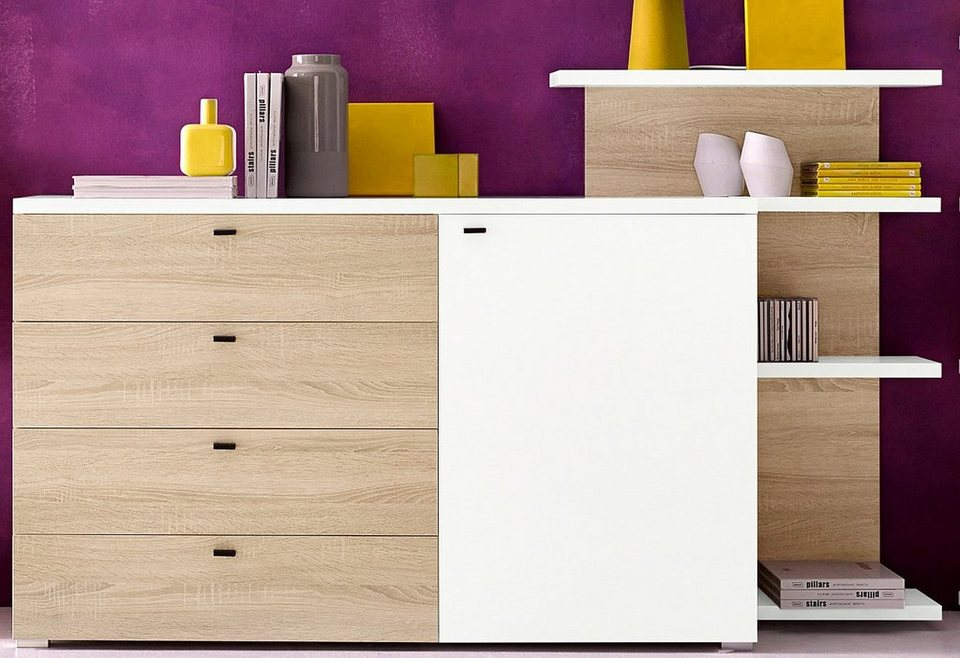inosign sideboard mit seitenregal breite 180 cm otto. Black Bedroom Furniture Sets. Home Design Ideas