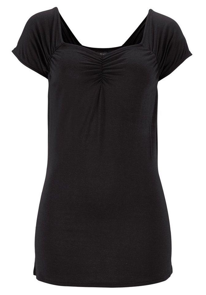 LASCANA Strandshirt in schwarz
