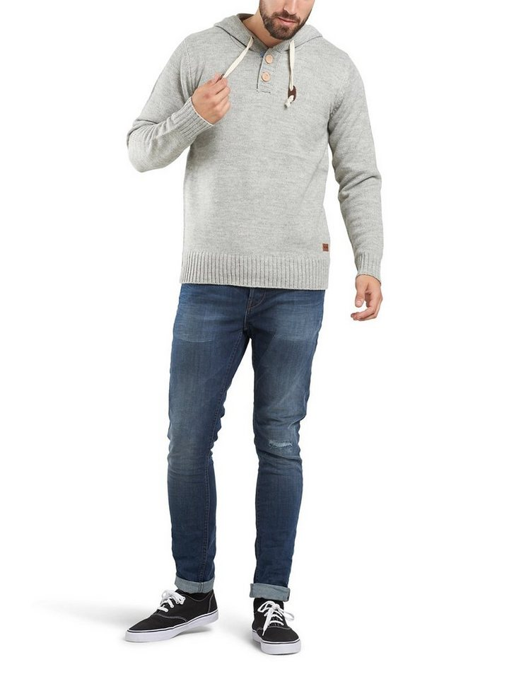 ONLY & SONS Woll- Hoodie in Light Grey Melange