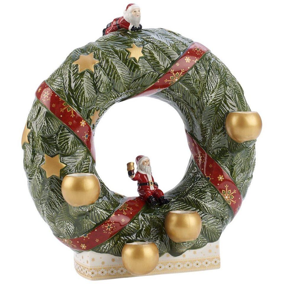 VILLEROY & BOCH Adventskranz stehend 26cm »Christmas Toys Memory« in Dekoriert