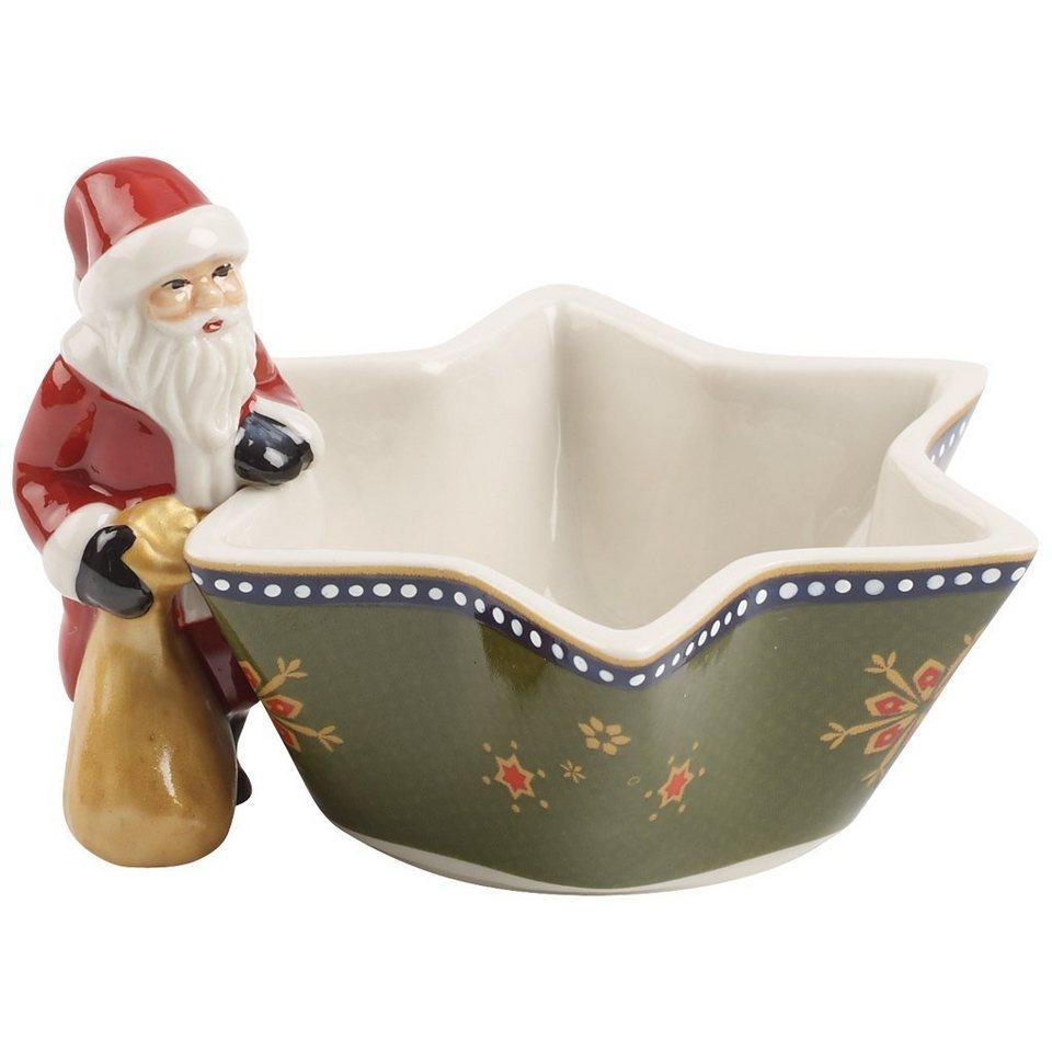 VILLEROY & BOCH Teelichthalter Santa »Nostalgic Light« in Dekoriert