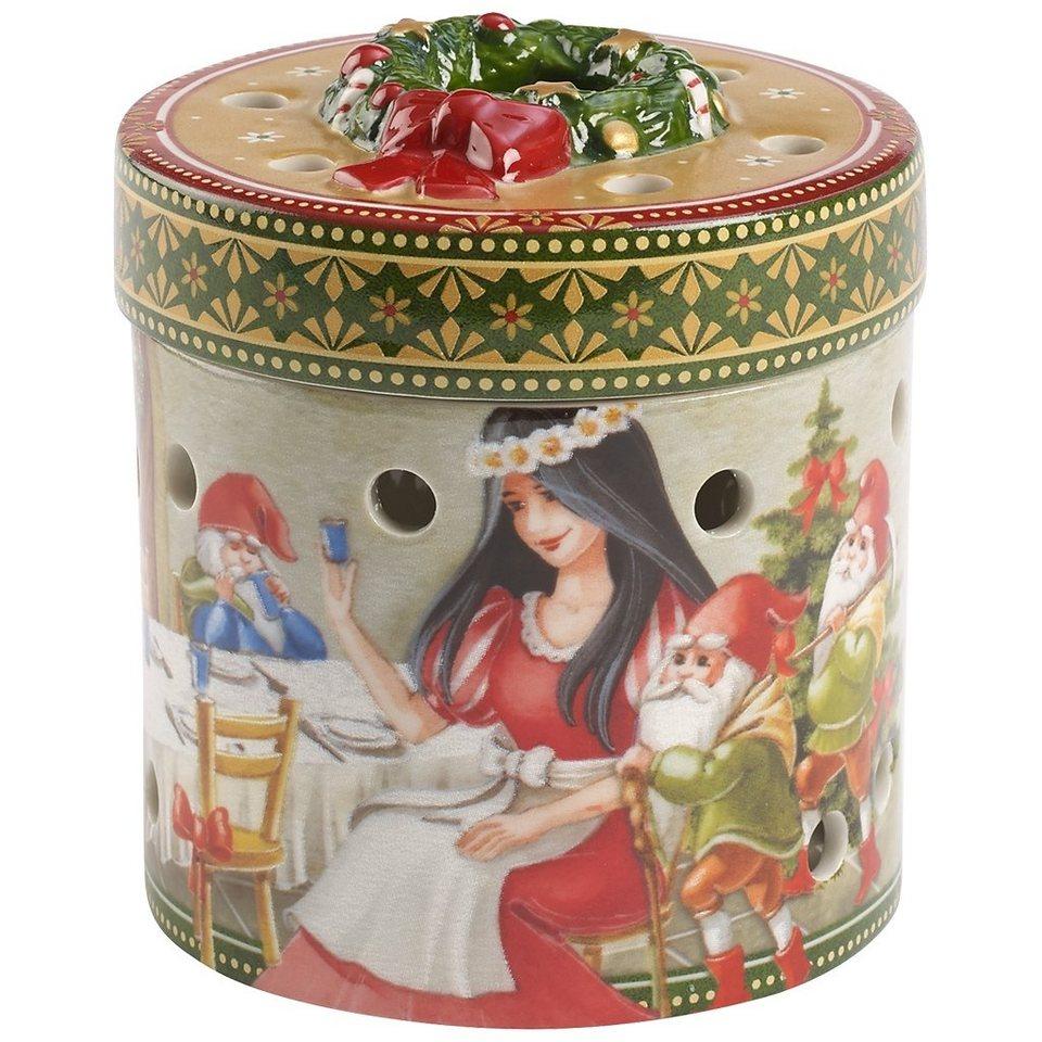 VILLEROY & BOCH Geschenkpaket klein rund Schneewitt »Christmas Toys« in Dekoriert