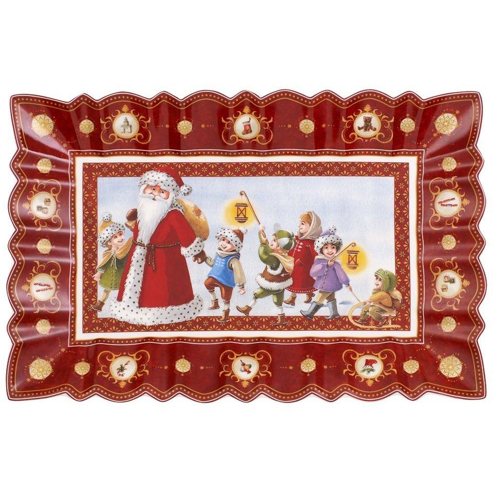 VILLEROY & BOCH Kuchenplatte eckig, Santas Spazierg »Toy's Fantasy« in Dekoriert