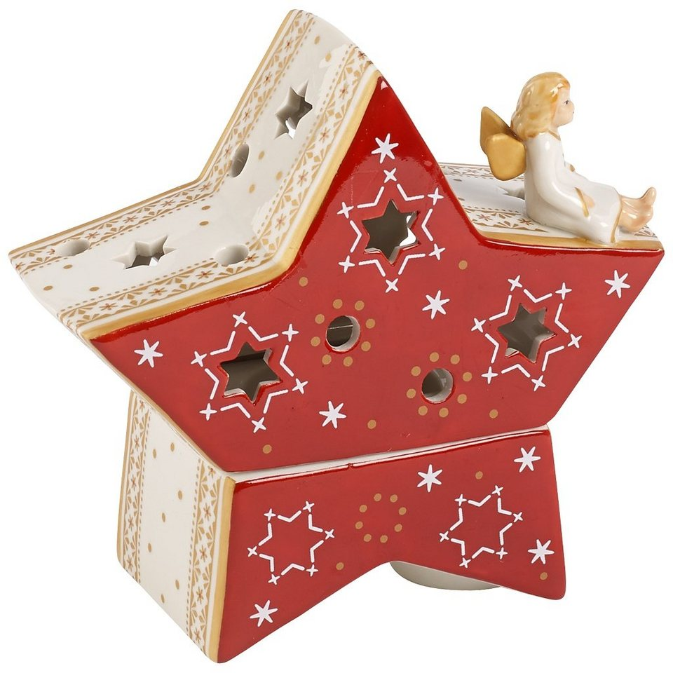 VILLEROY & BOCH Windlicht Stern 13cm »Christmas Light« in Dekoriert